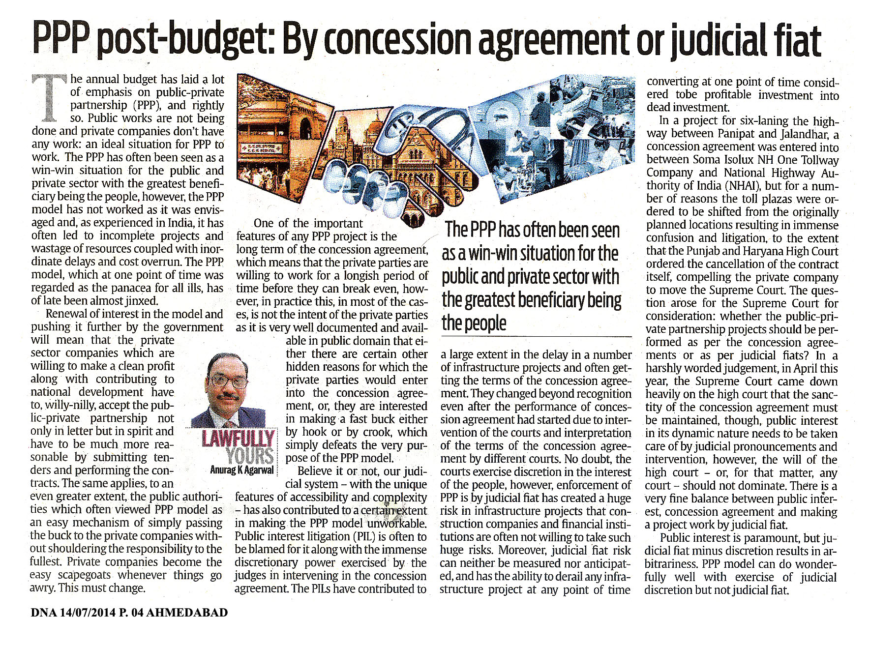 Ppp Post Budget By Concession Agreement Or Judicial Fiat